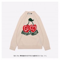 GC Wool sweater with cherry intarsia