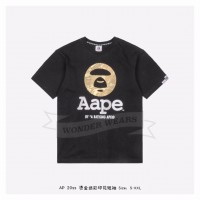 Aape SS Head Bronzing T-shirt Black