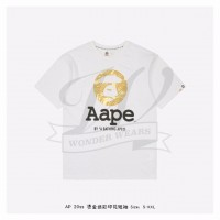 Aape SS Head Bronzing T-shirt White