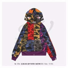 BAPE Mix Camo Crazy Shark Full Zip Hoodie Multi
