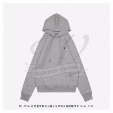 BAPE Space Camo College Pullover Hoodie Grey