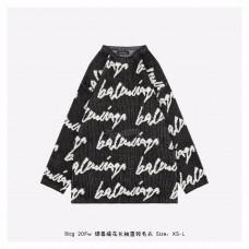 BC Allover Handwriting Logo Crewneck Jacquard Cotton Knit