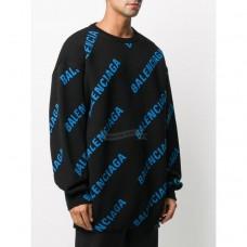 BC Allover Logo Crewneck Jacquard Cotton Knit