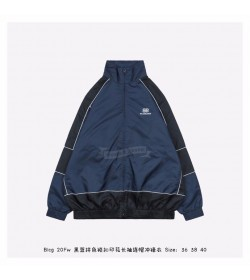 BC BB Zip-up Jacket in blue and black light nylon