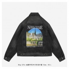 BC Notre Dame Printed Denim Jacket