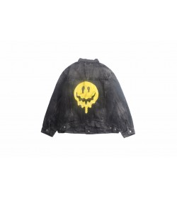 BC Smiley-face Print Denim Jacket