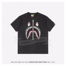 BAPE ABC CAMO SHARK TEE Black