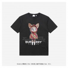 BR 3D Colorful Deer Print T-shirt Black