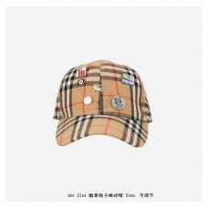 BR Badge Plaid Baseball Cap