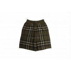 BR Check Silk Wool Jacquard Shorts