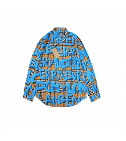 BR Graffiti Print Vintage Check Shirt