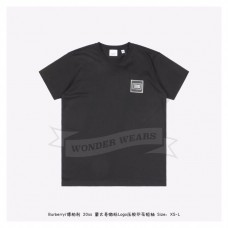 BR Logo Applique Cotton T-shirt Black