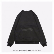 BR Logo Print Cotton Sweatshirt in Black