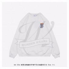 BR Monogram Motif Cotton Sweatshirt in White