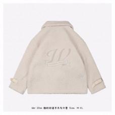 BR Slogan Wool Fleece Jacket White