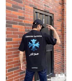 Chrome Hearts Blue Cross T-shirts