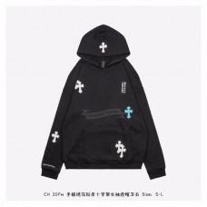 Chrome Hearts Color Cross Leather Hooded Sweatshirt