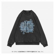 Chrome Hearts Cross Printed Wash Old Sweatshirt