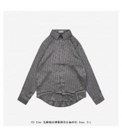DR Button-down Silk Printed Shirt Logo