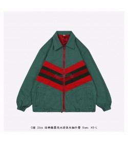 GC Black Green Red Color Patch Oversize Jacket