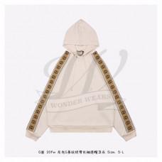 GC Cotton jersey hooded sweatshirt Ivory