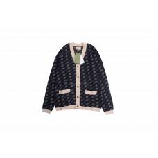 GC GG Diagonal Cotton Silk Cardigan