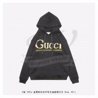 GC Glitter Print Hooded Sweatshirt Black