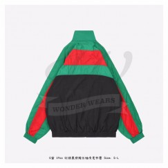 GC Interlocking G Black Green Red Color Patch Oversize Jacket