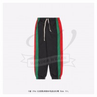 GC Interlocking G Black Green Red Color Patch Pants