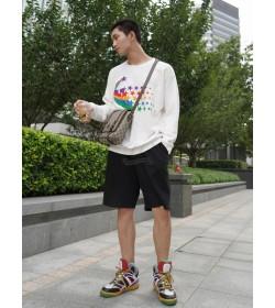 GC Shooting Star Print Cotton Sweatshirt