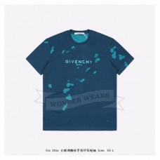 GVC PARIS OVERSIZED DESTROYED T-SHIRT BLUE