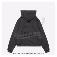 Kith x mastermind WORLD Knit Hoodie Black