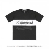 Mastermind WORLD & Timberland 19FW LOGO Print T-shirt Black/White