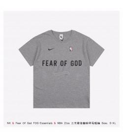 NK & FOG & NBA Logo Print T-shirt - 3 Colors
