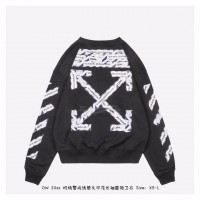 OFF-WHITE Airport Tape Arrows Diag Sweatshirt Black