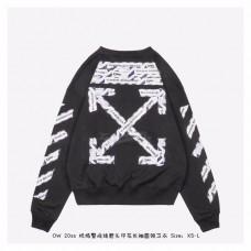 OFF-WHITE Airport Tape Arrows Diag Sweatshirt Black