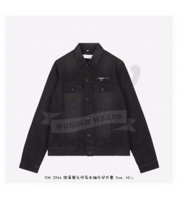 Off White Black Denim Jacket