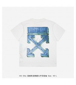 Off-White Blue MARKER S/S OVER T-SHIRT
