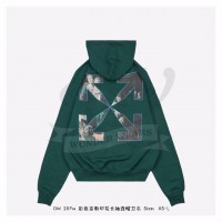 Off-White Caravaggio Painting Hoodie in Green