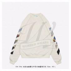 OFF-WHITE Diag Arrows Sweatshirt White/Multicolor
