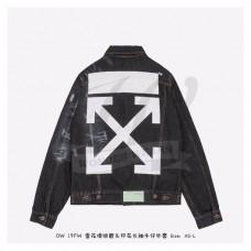 Off-White Denim Jacket Black/White