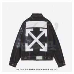 Off-White Denim Jacket Black/White
