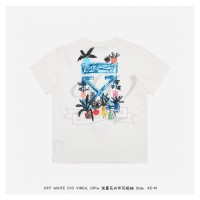 Off-White Flower doodle T-shirt White