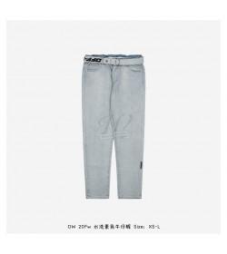 Off-White Logo Belt Denim Pants