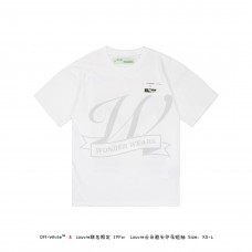 LOUVRE MUSEUM X Off White Cloud Arrow Print T-shirt White