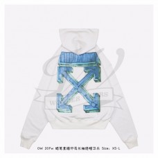 Off-White Marker Arrows Hoodie White/Blue