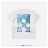 Off-White MARKER S/S OVER T-SHIRT White Blue