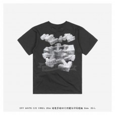 Off White Pencil Hand Drawn 3D Arrow T-shirt Black