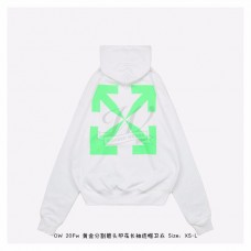 OFF-WHITE Pascal Over Hoodie White/Green