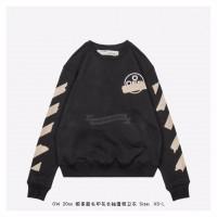 OFF-WHITE Tape Diag Arrows Sweatshirt Black/Beige